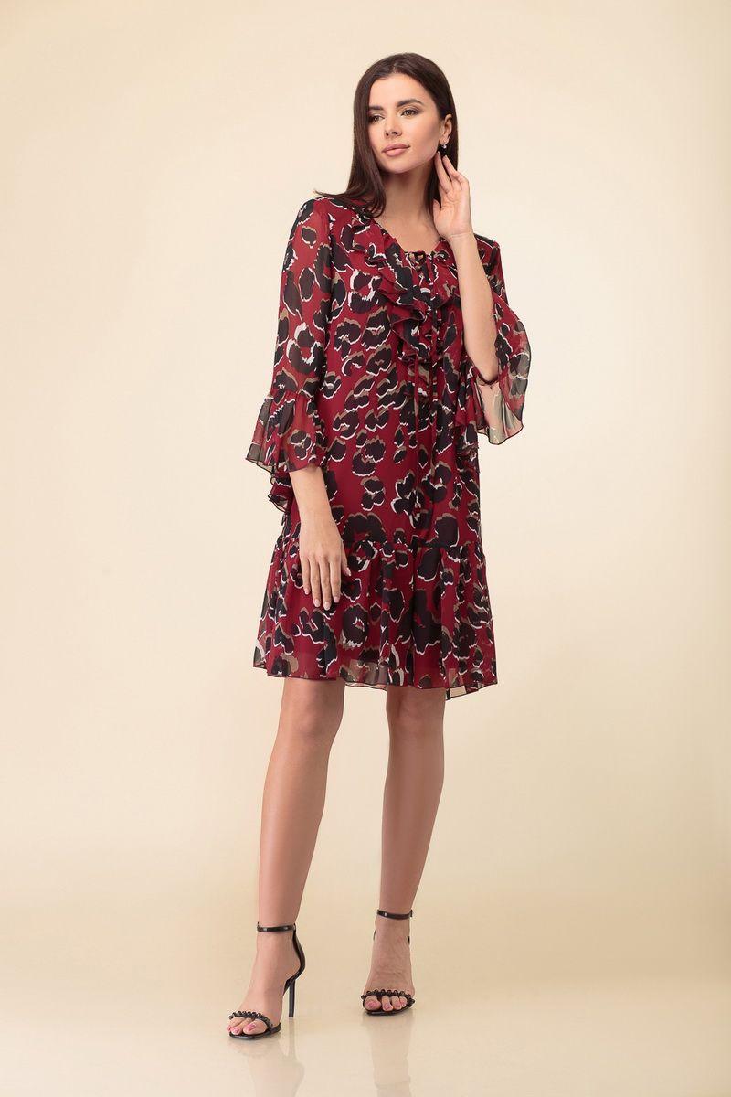 платье DaLi 3400 бордо