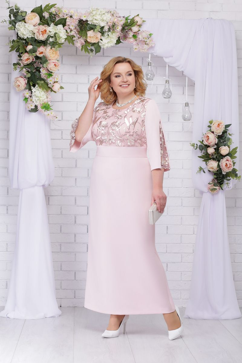 платье Ninele 5691 пудра