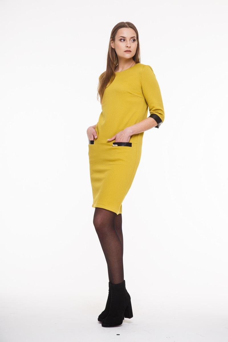 платье AMORI 9276 горчичный