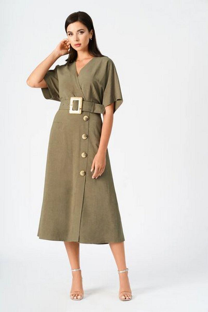 платье Vladini 4145 хаки
