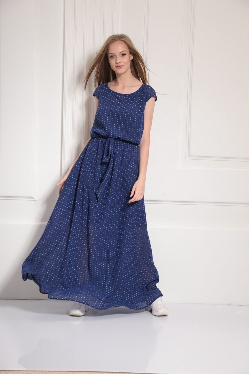 платье AMORI 9476 василек