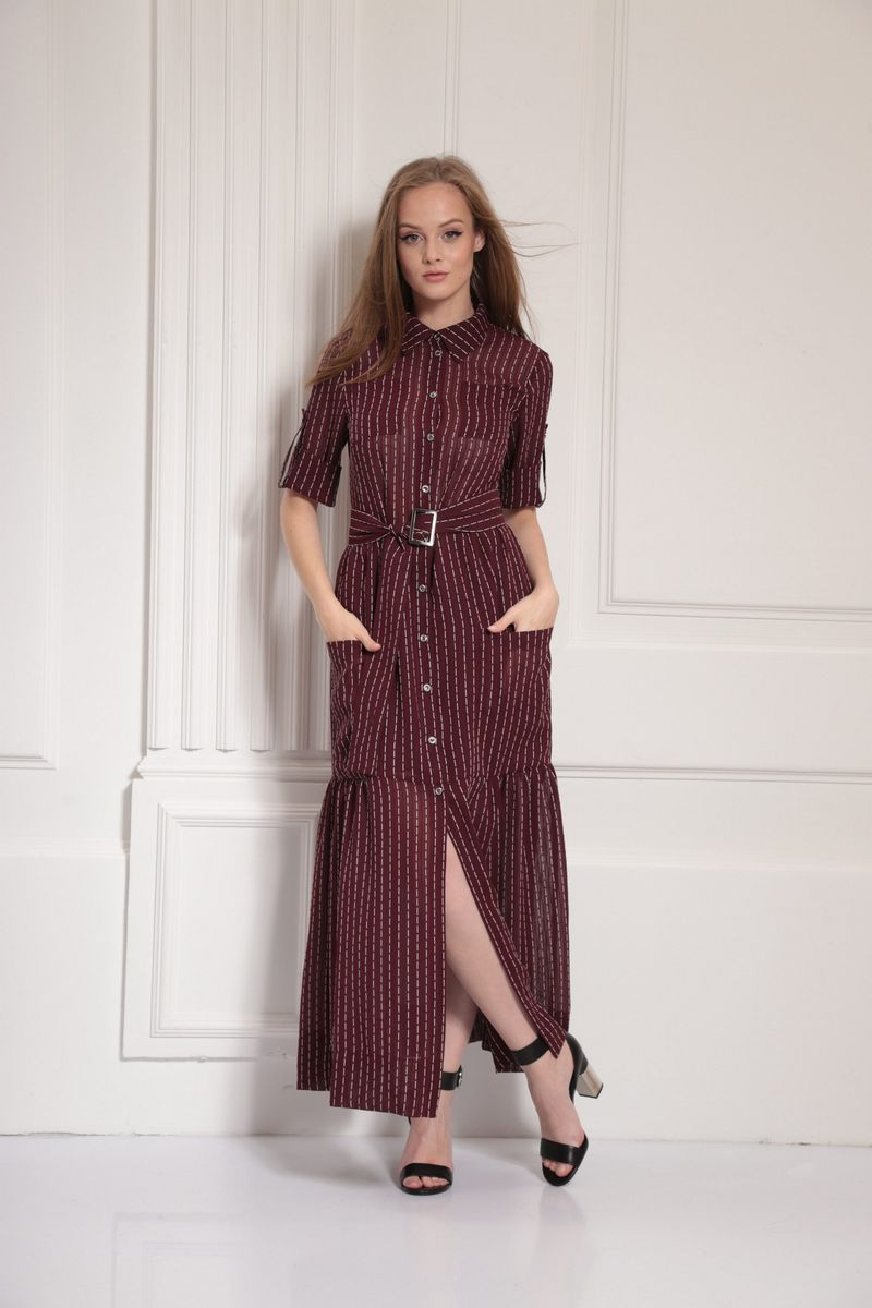 платье AMORI 9477 вино