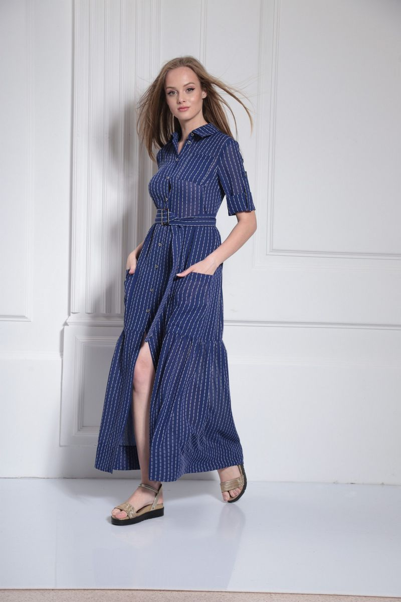 платье AMORI 9477 василек