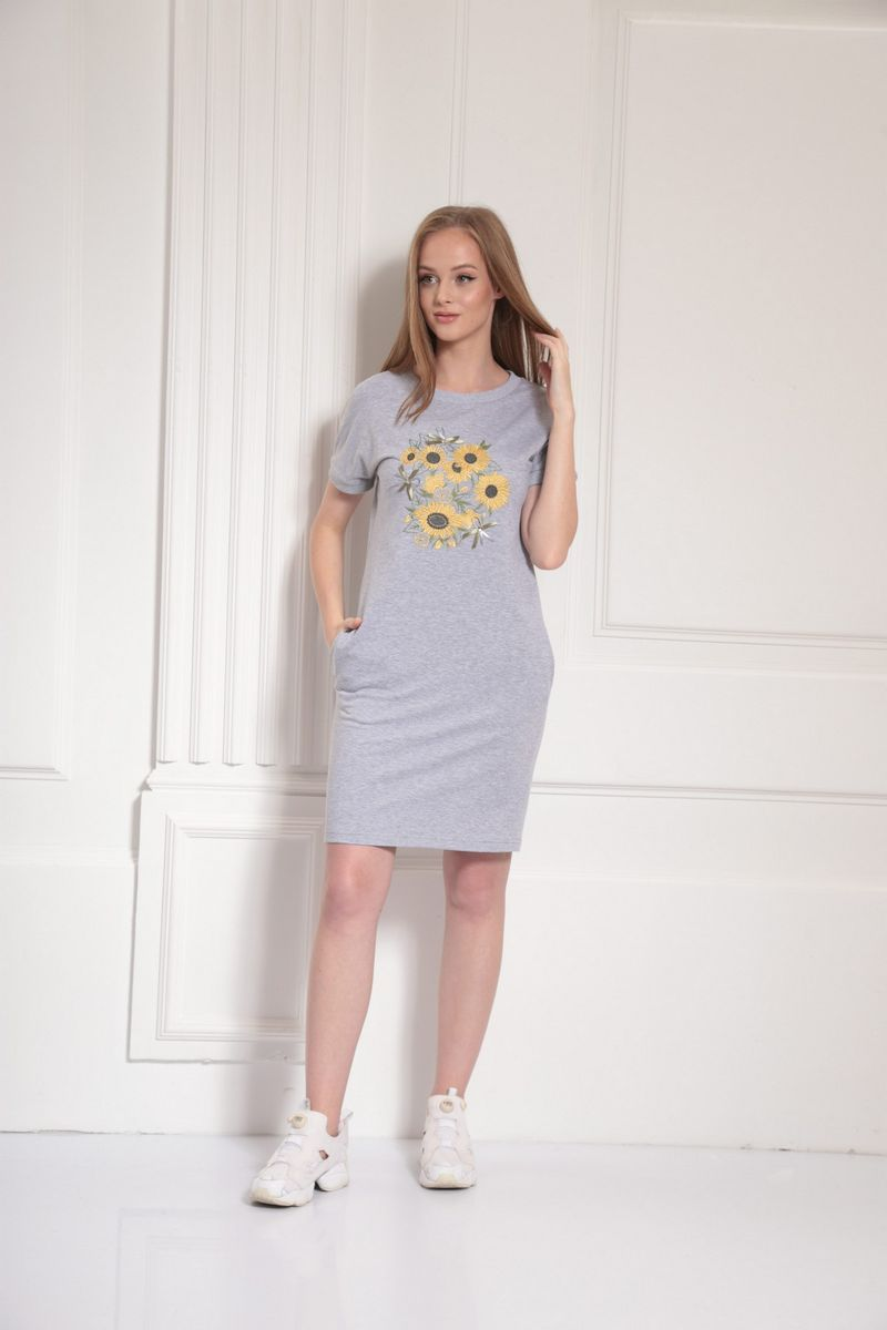 платье AMORI 9479 серый