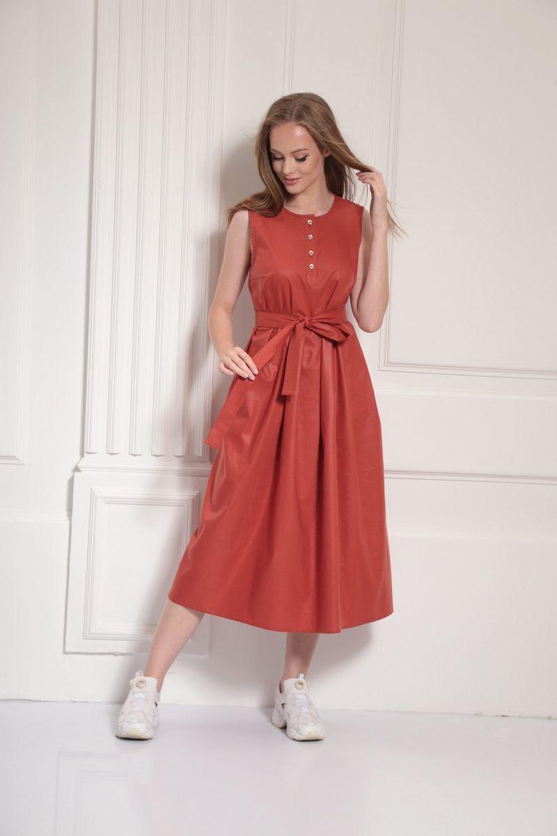 платье AMORI 9482 терракот