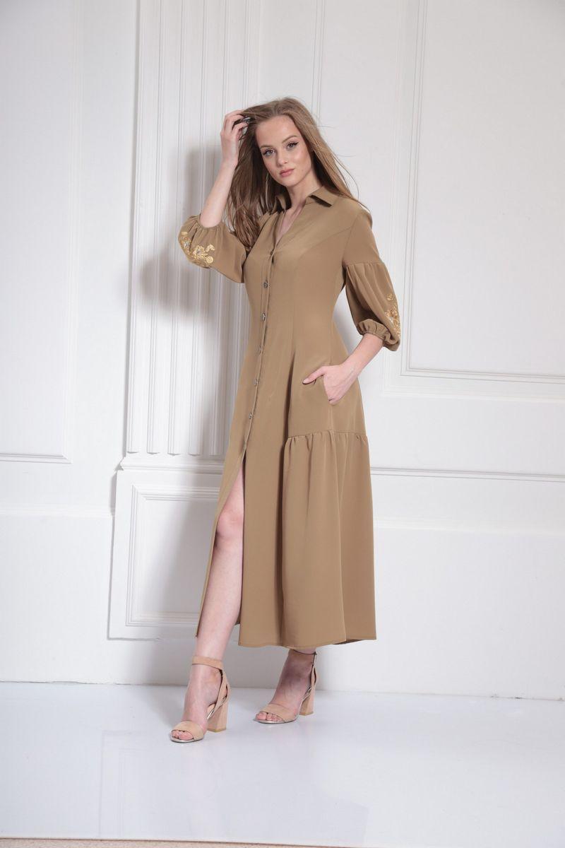 платье AMORI 9485 хаки