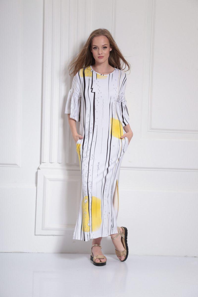 платье AMORI 9486 желтый