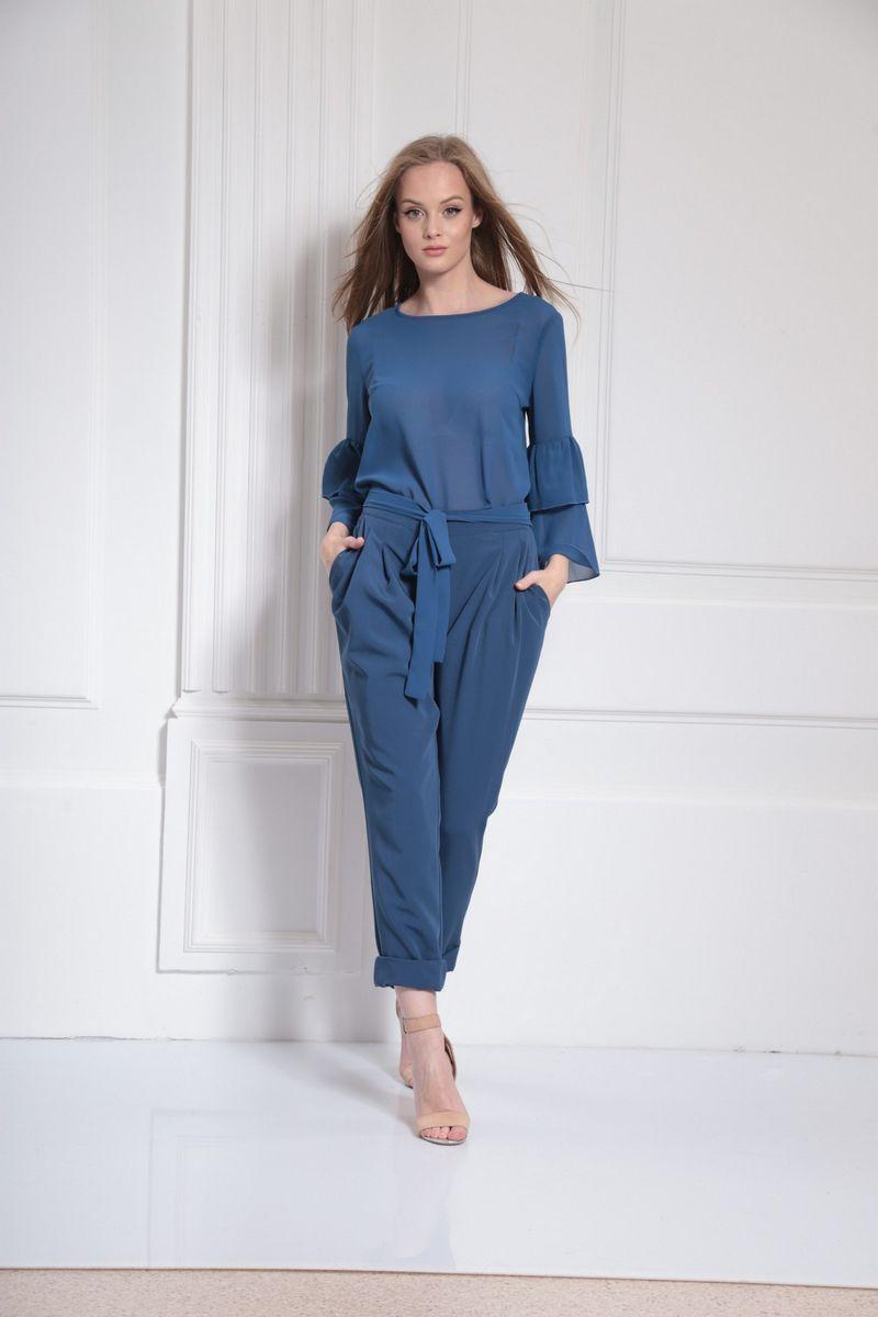 блуза AMORI 6306 голубой