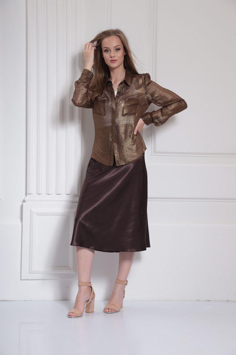 блуза AMORI 6315 шоколад