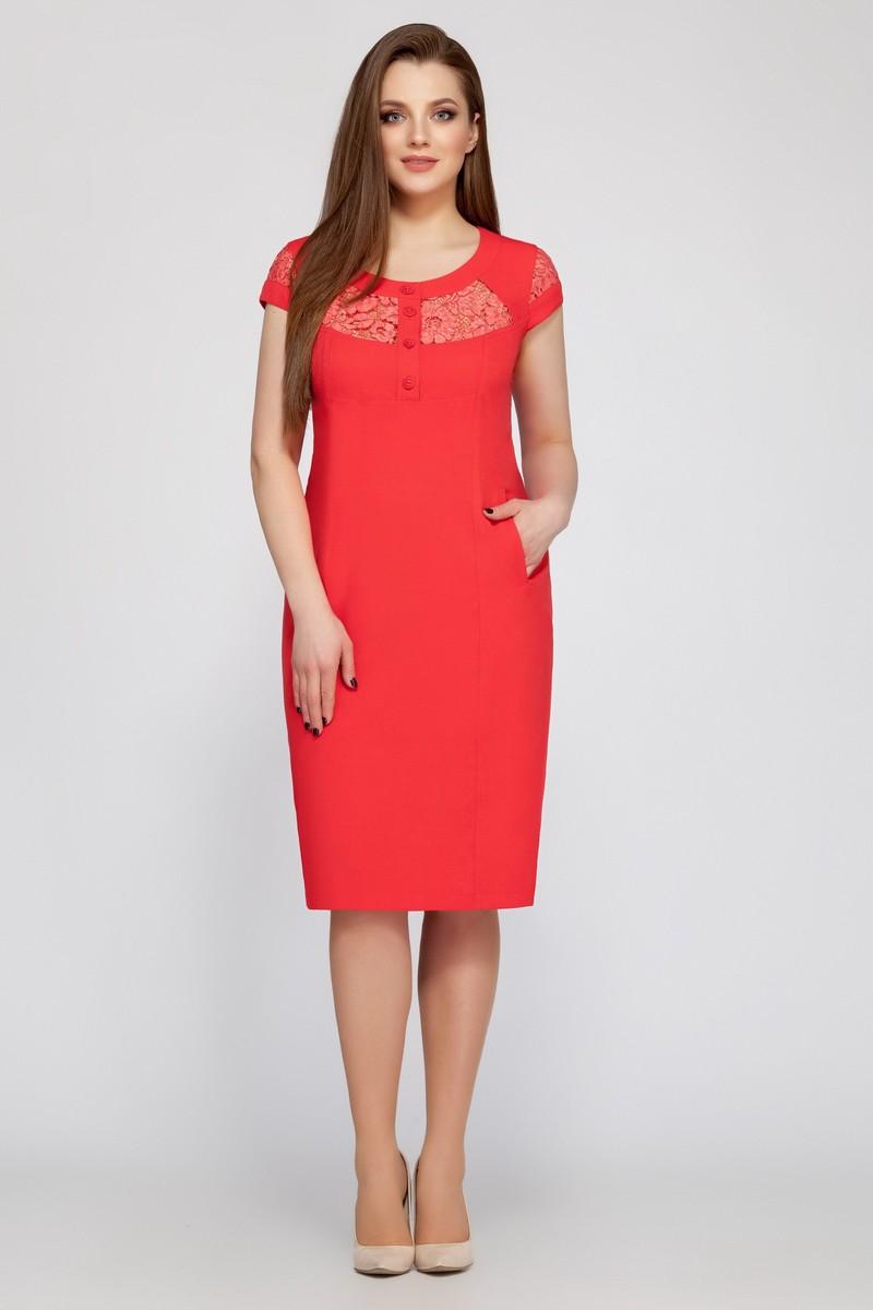 платье LaKona 549 коралл