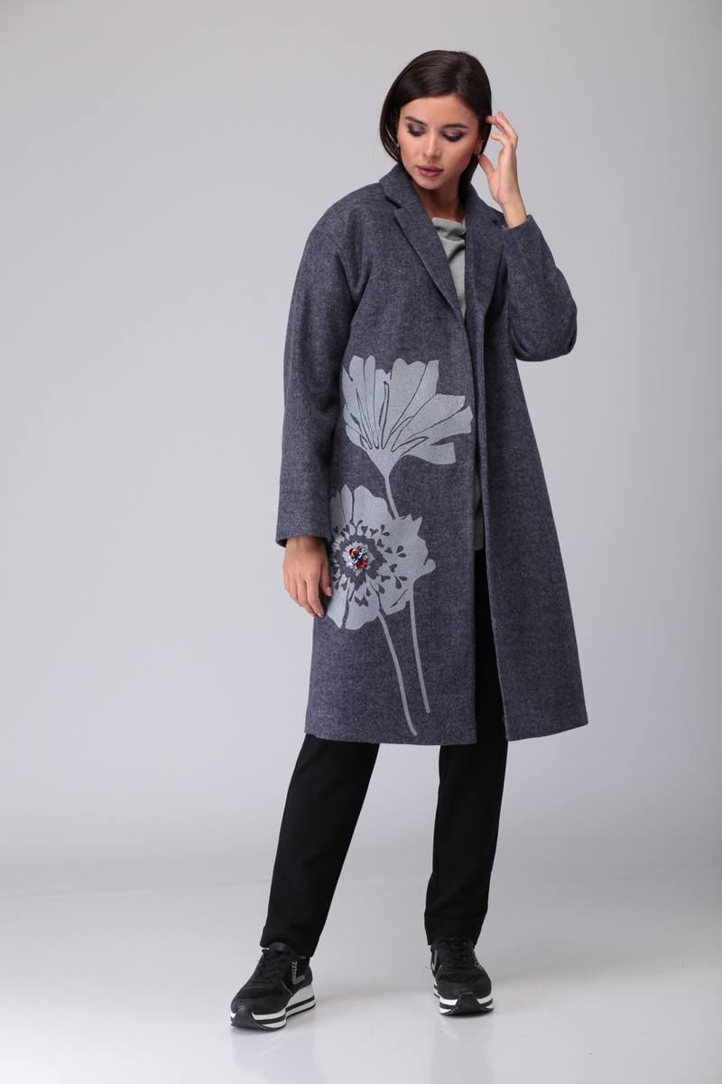 пальто TAiER 875 серый