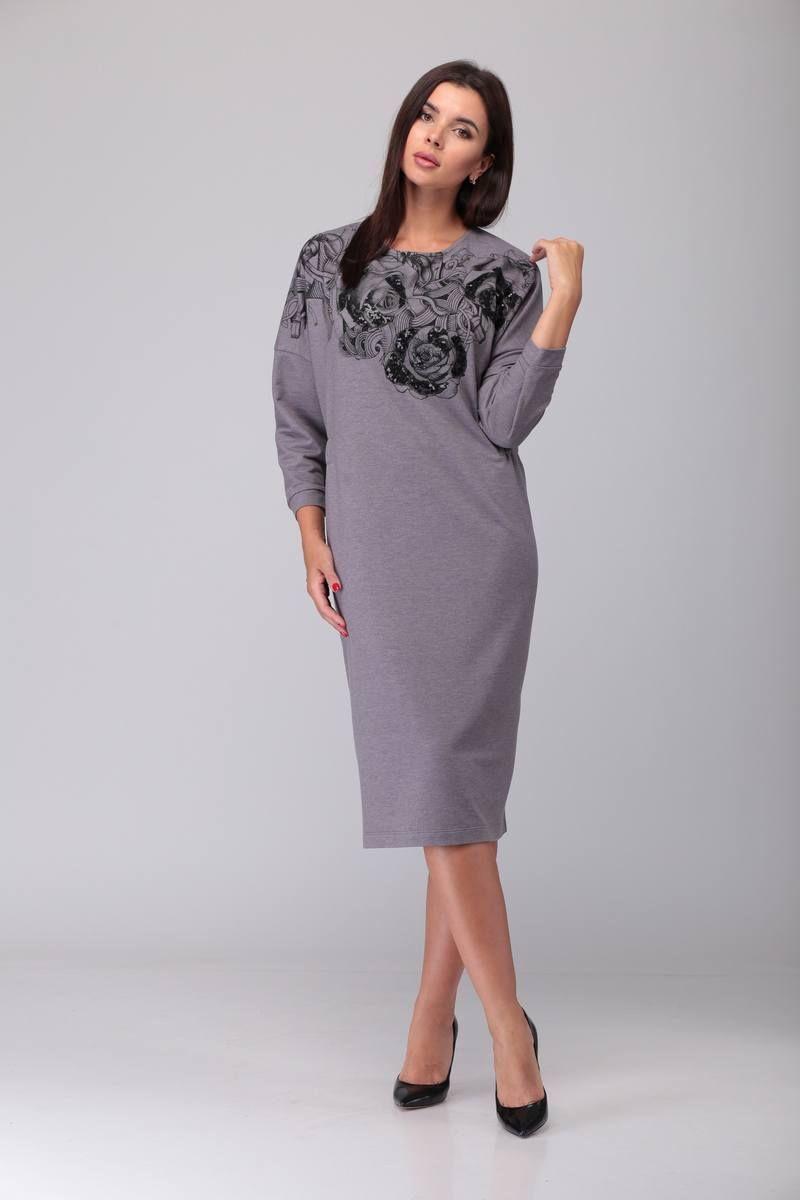 платье TAiER 905 чайная_роза/меланж