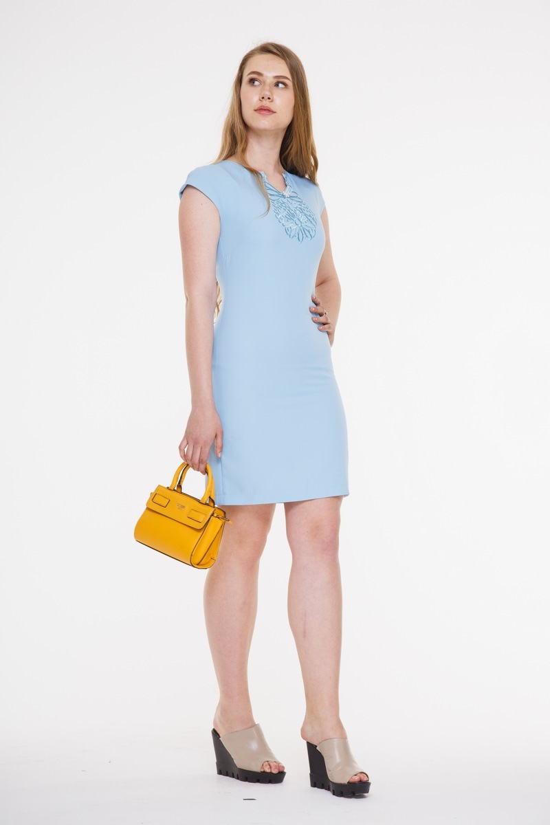 платье AMORI 9291 голубой