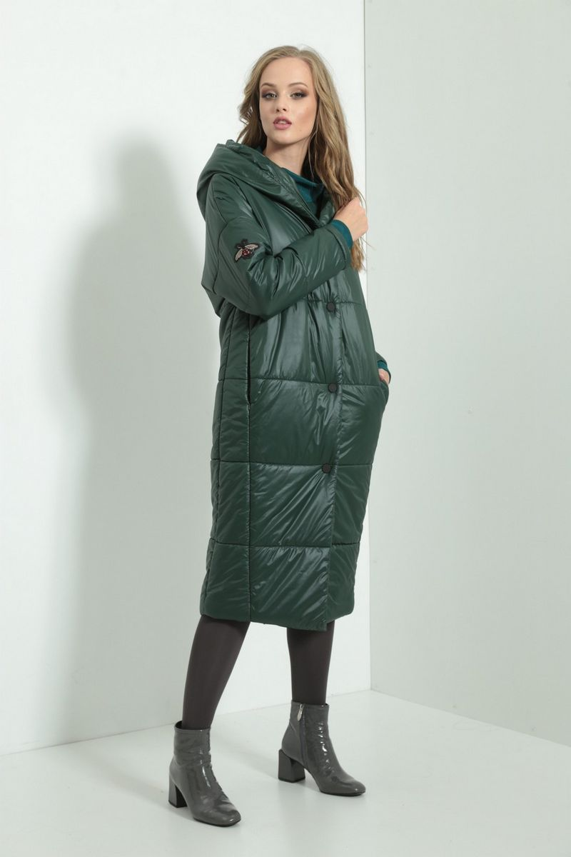 пальто AMORI 2104 зеленый