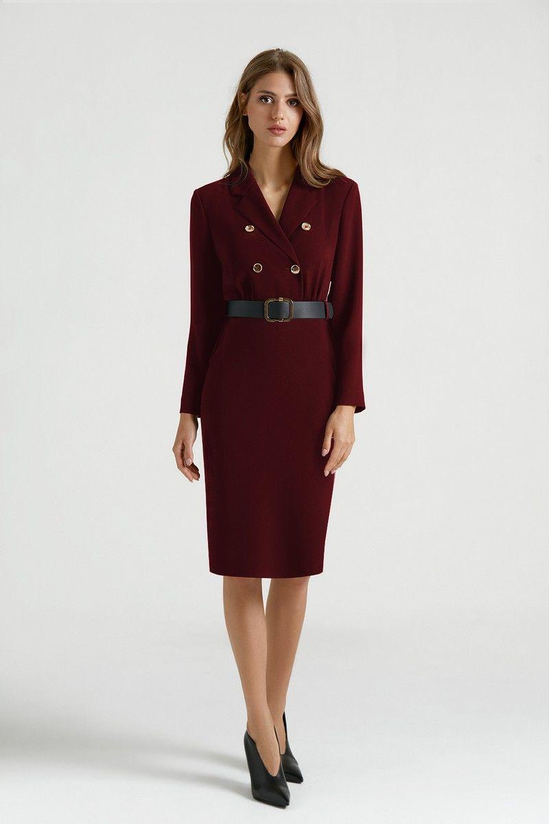 платье Vladini DR0319/1 бордо