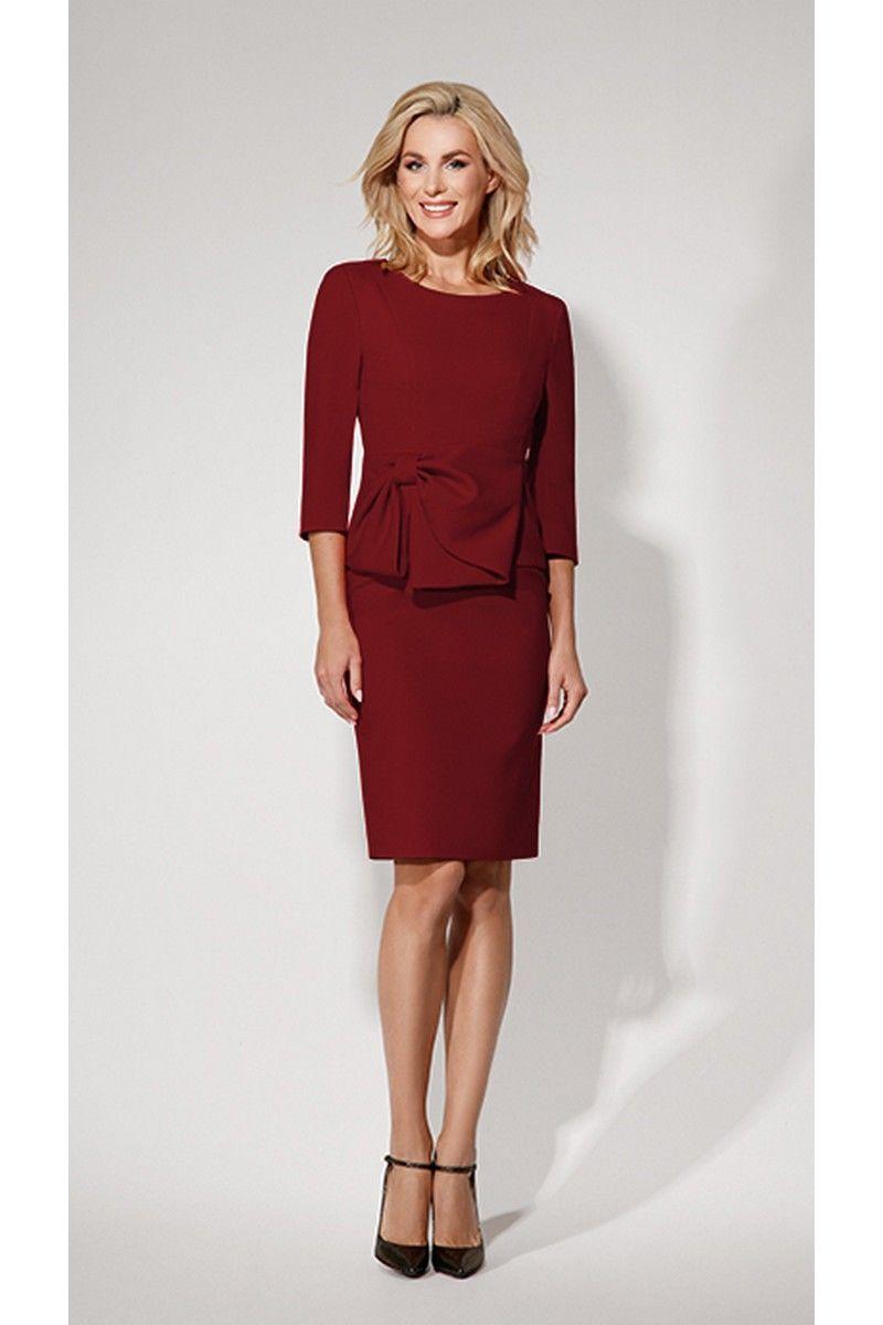 платье Vladini 4011 бордо