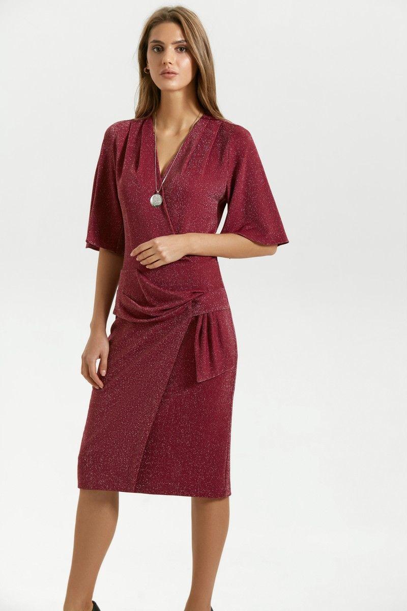 платье Vladini 4128 бордо