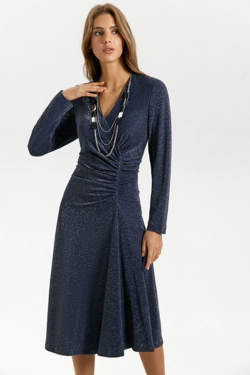платье Vladini 4138 темно-синий