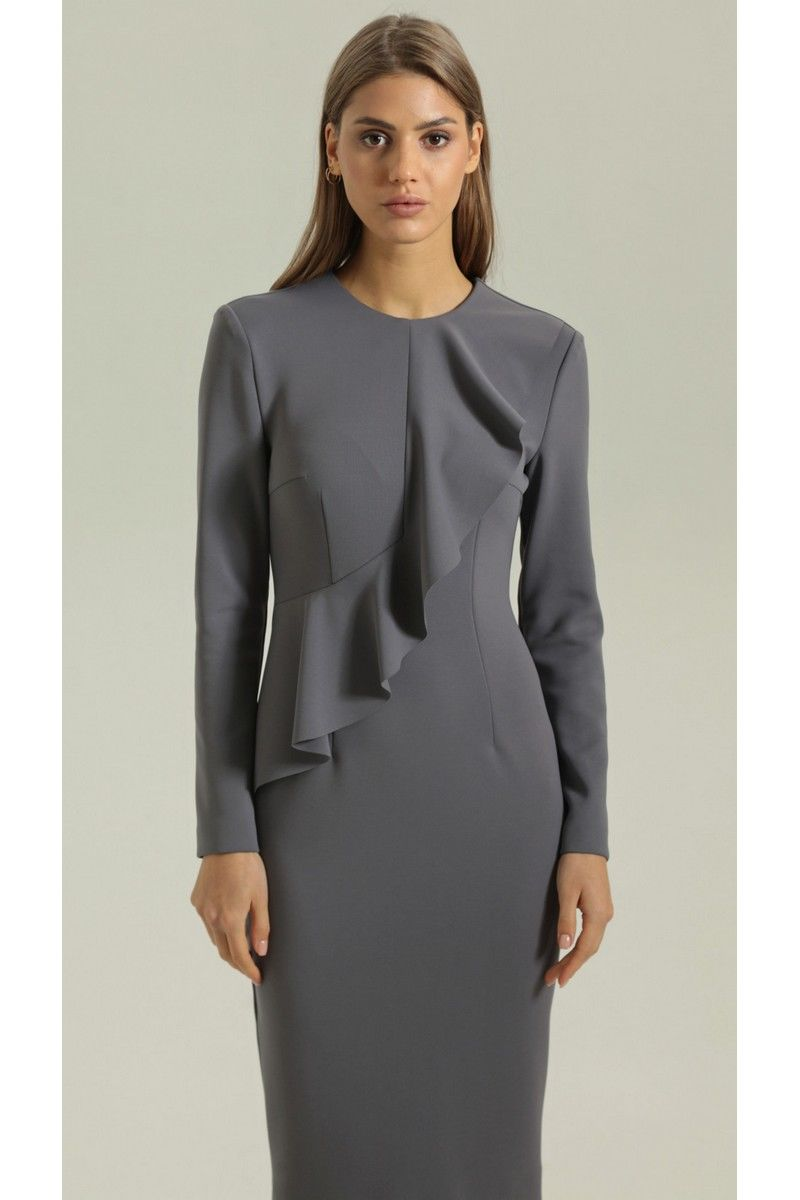 платье Vladini DR0340 серый