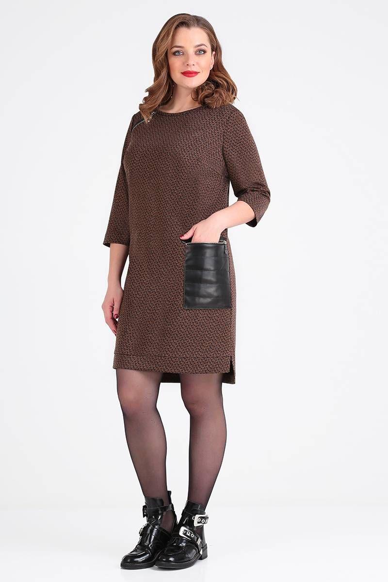 платье Gold Style 2440 коричневый,черный