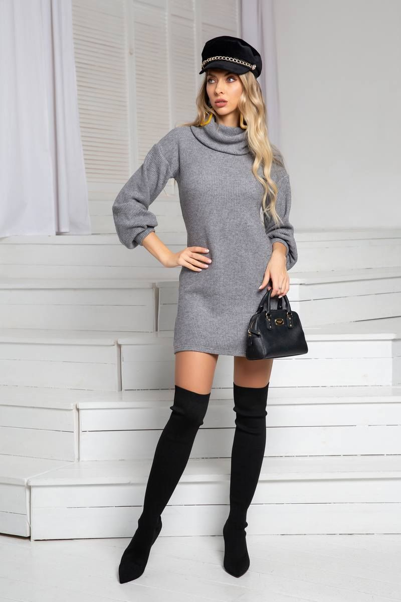 платье DoMira 01-576 серый