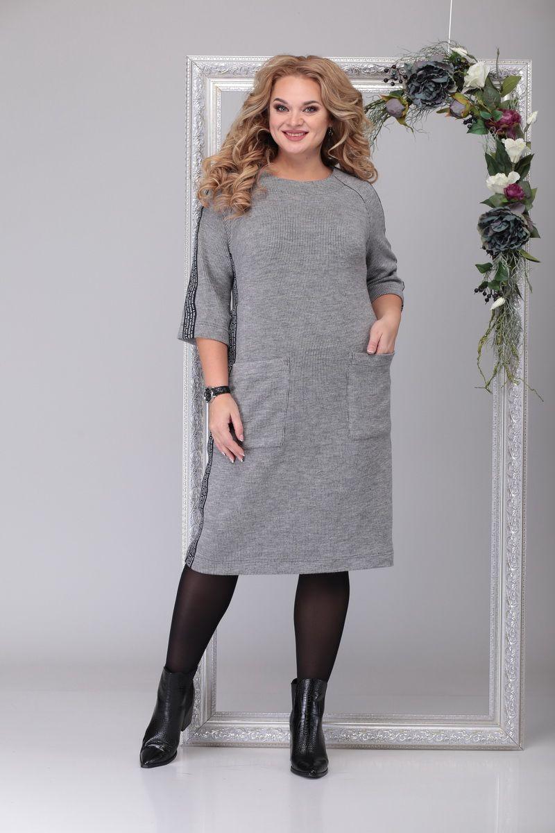 платье Michel chic 2038 серый