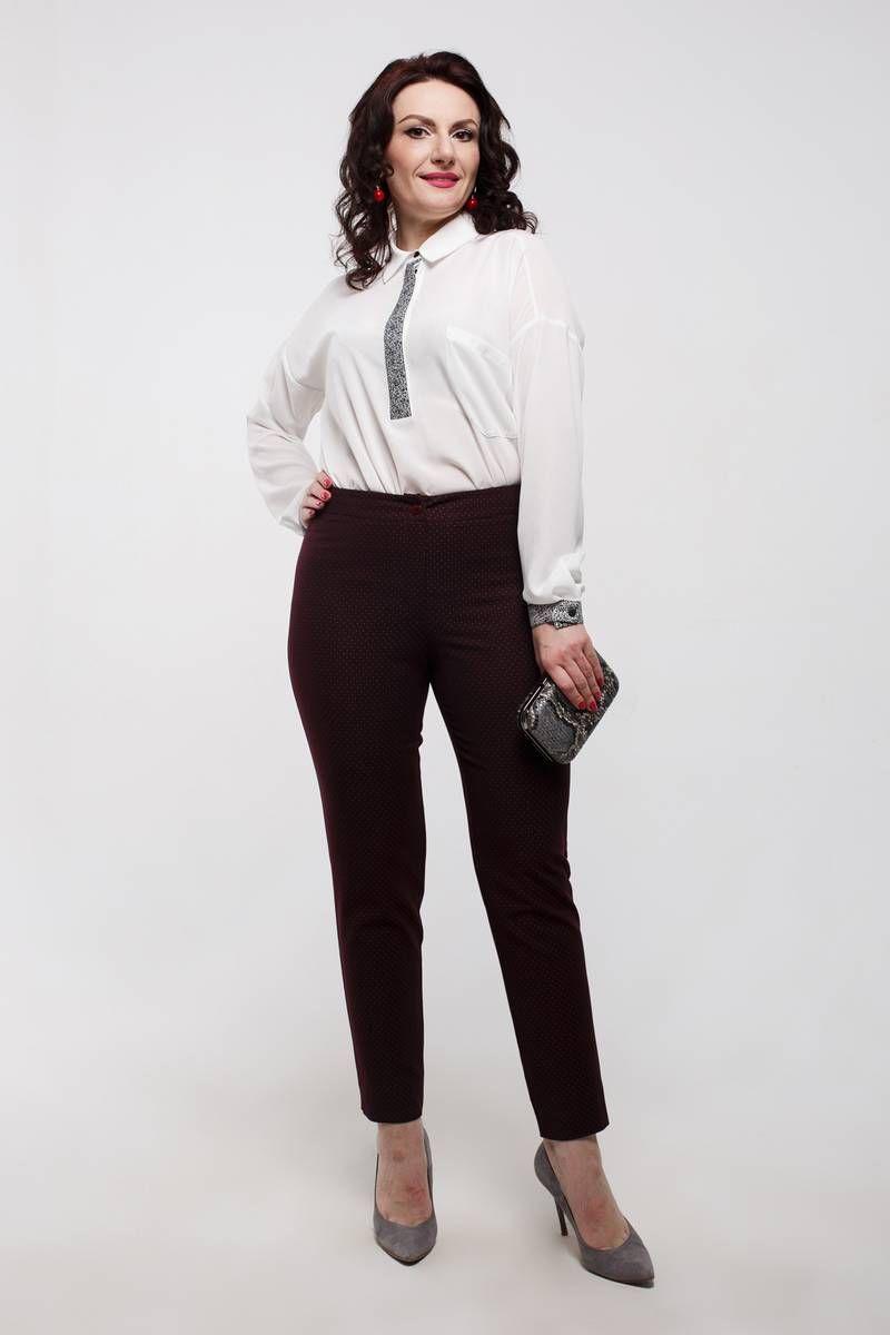 брюки Дорофея 98 красно-коричневый