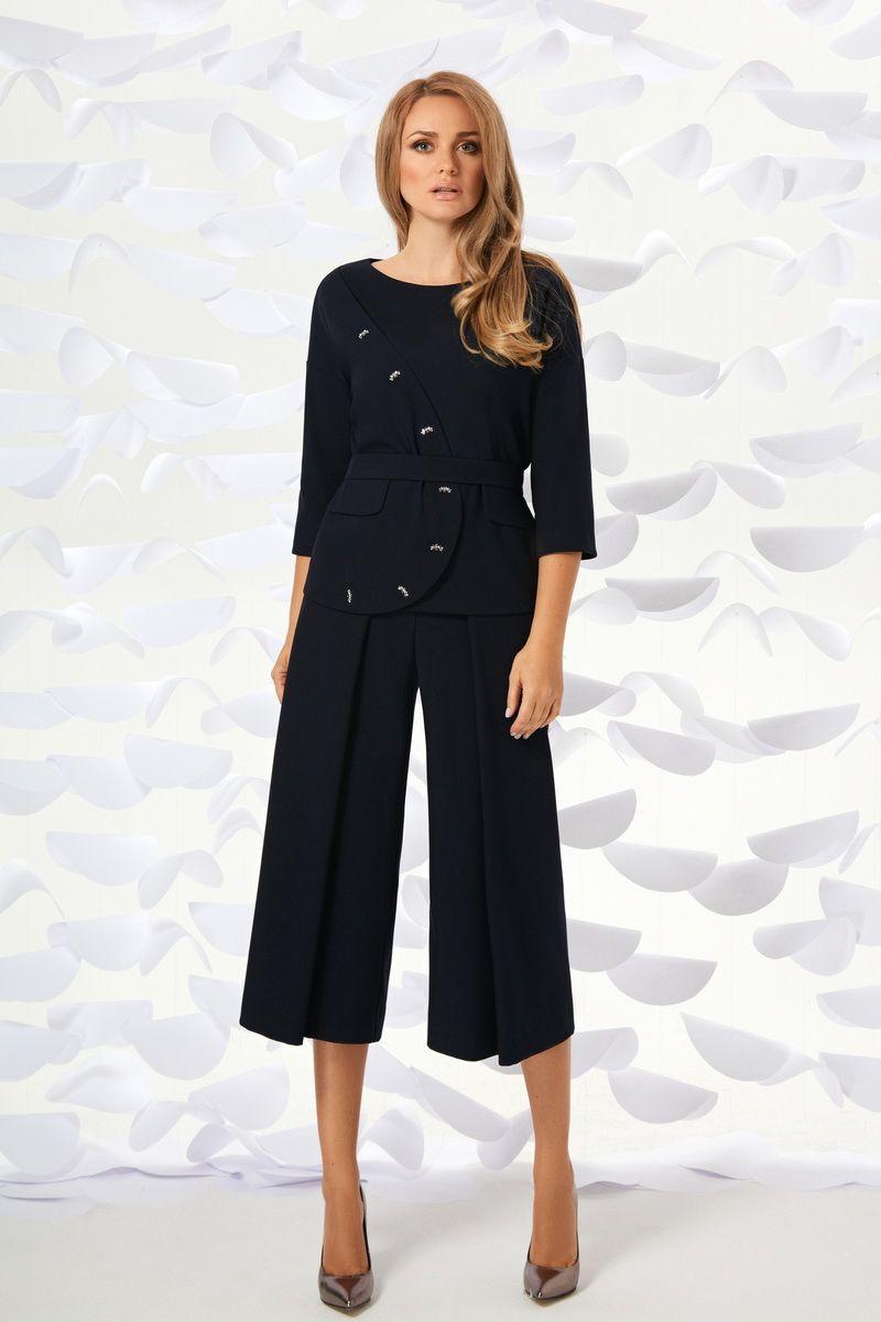 блуза,  брюки Магия моды 1696 темно-синий