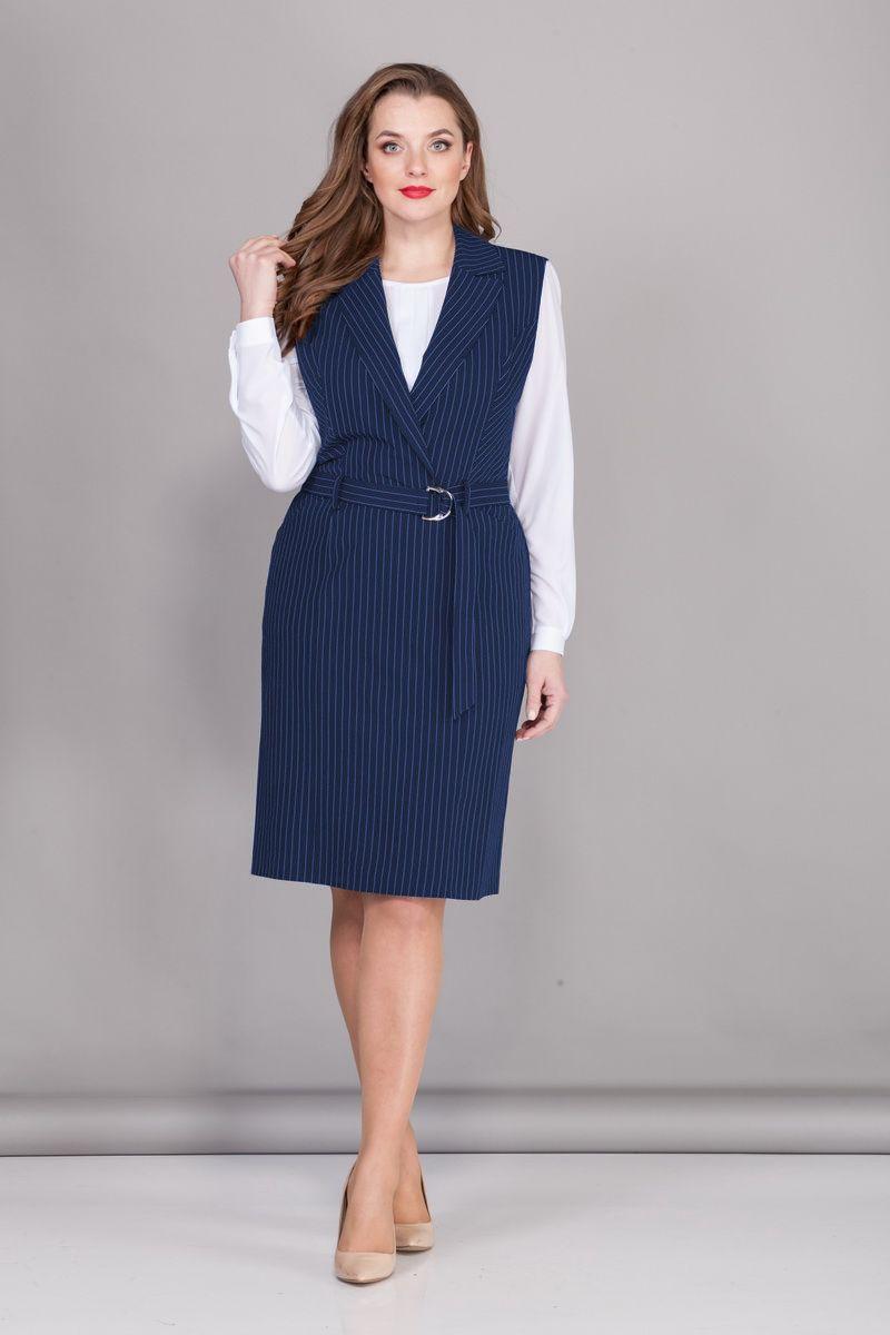 блуза,  сарафан БАГРЯНИЦА 2118 василек