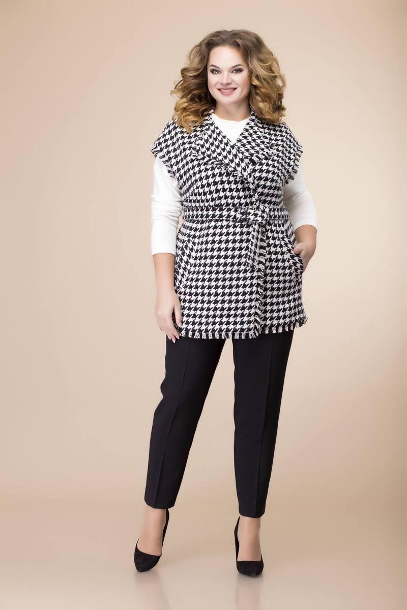 брюки,  джемпер,  жилет Romanovich Style 3-2091 белый/черный