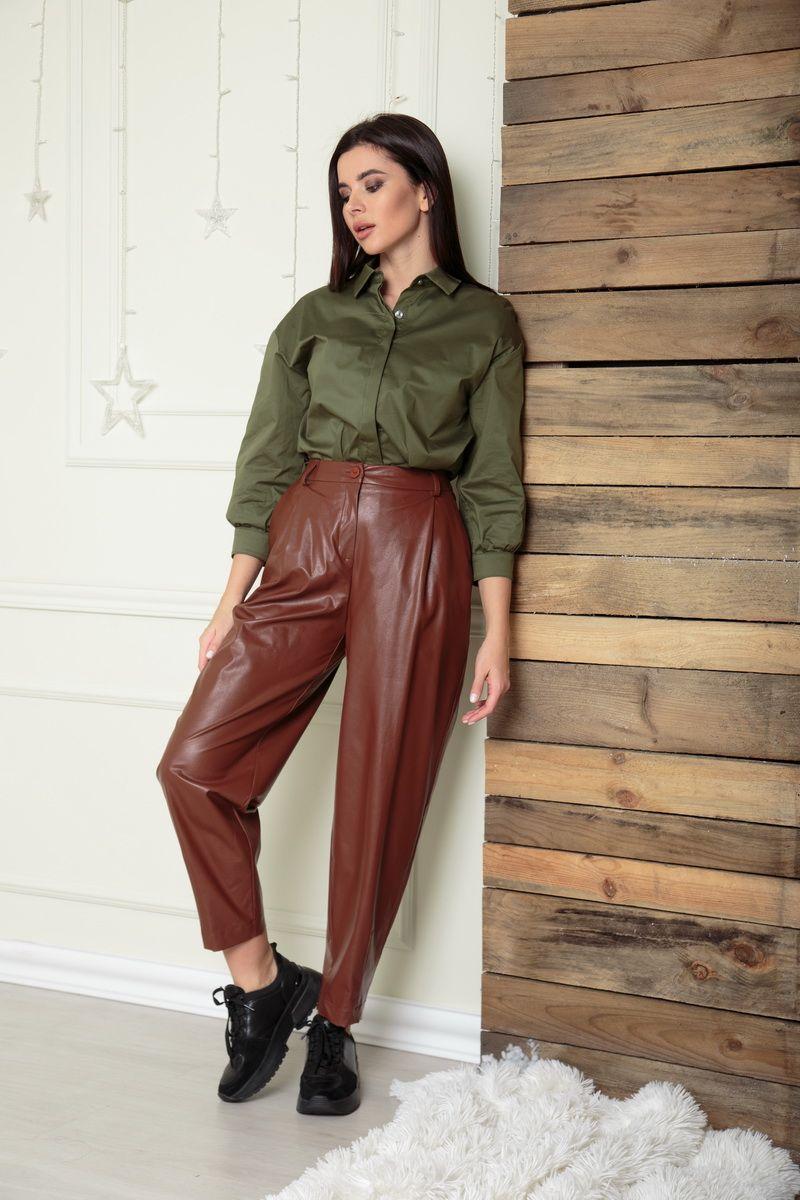брюки SandyNa 13882 коричневый