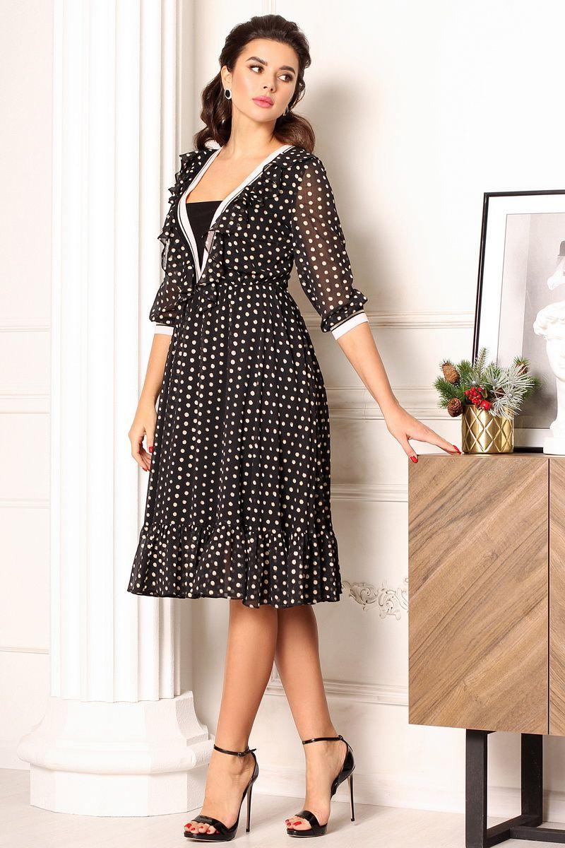 платье Мода Юрс 2636 черный_горох