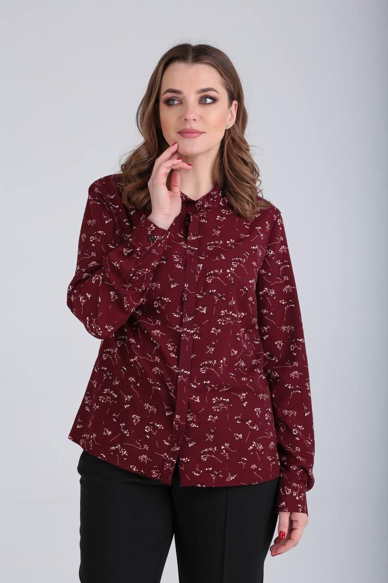 блуза Bliss 1555 бордо/рисунок