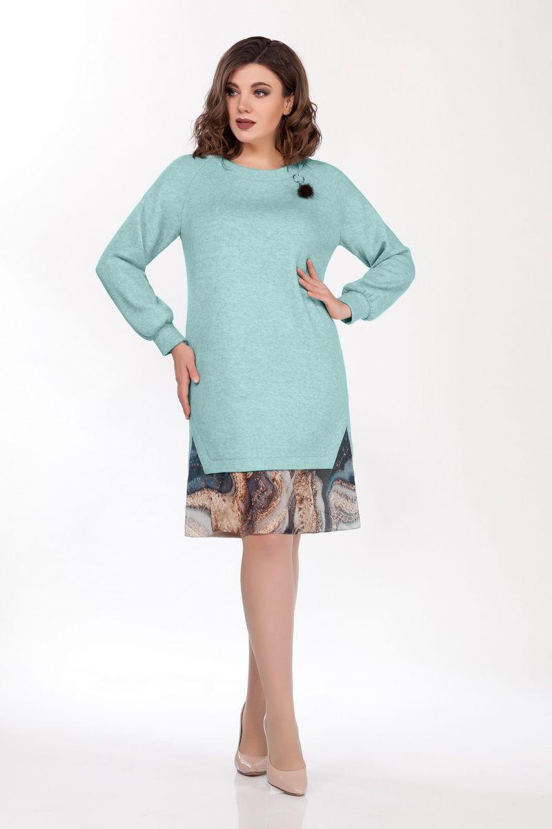 платье БагираАнТа 671 мята_разводы