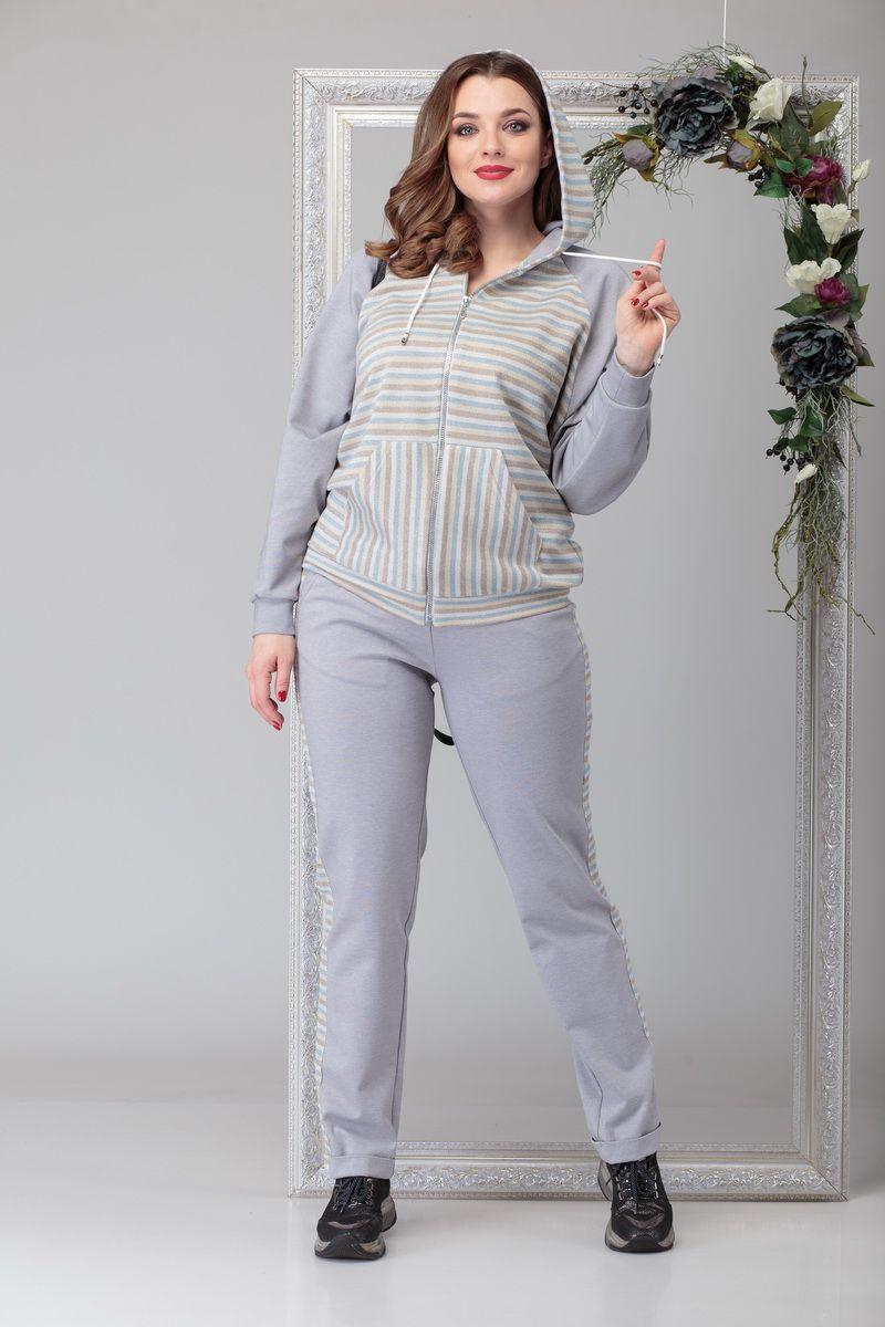 брюки,  толстовка Michel chic 1197 серый
