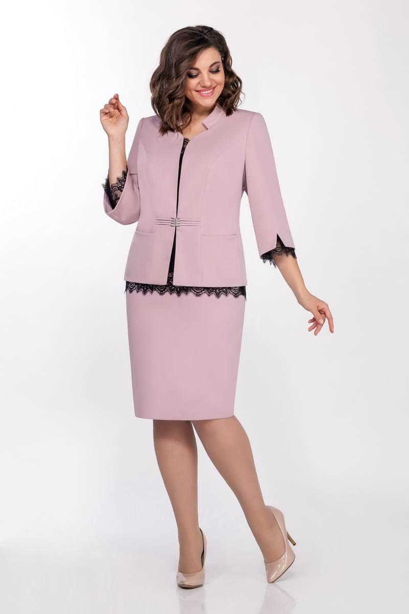 блуза,  жакет,  юбка LaKona 1338 пудра