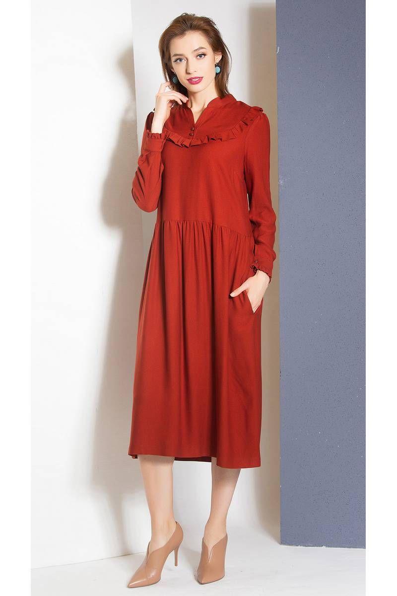 платье Ivera 718 красно-коричневый