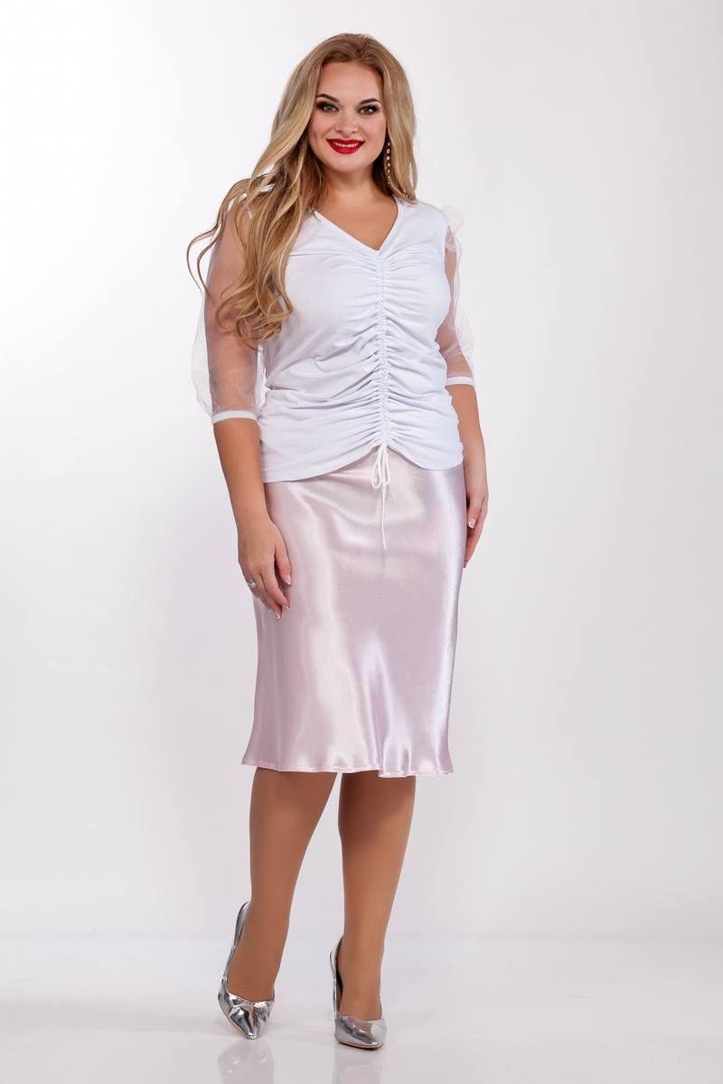 блуза,  юбка Belinga 3017 розовый