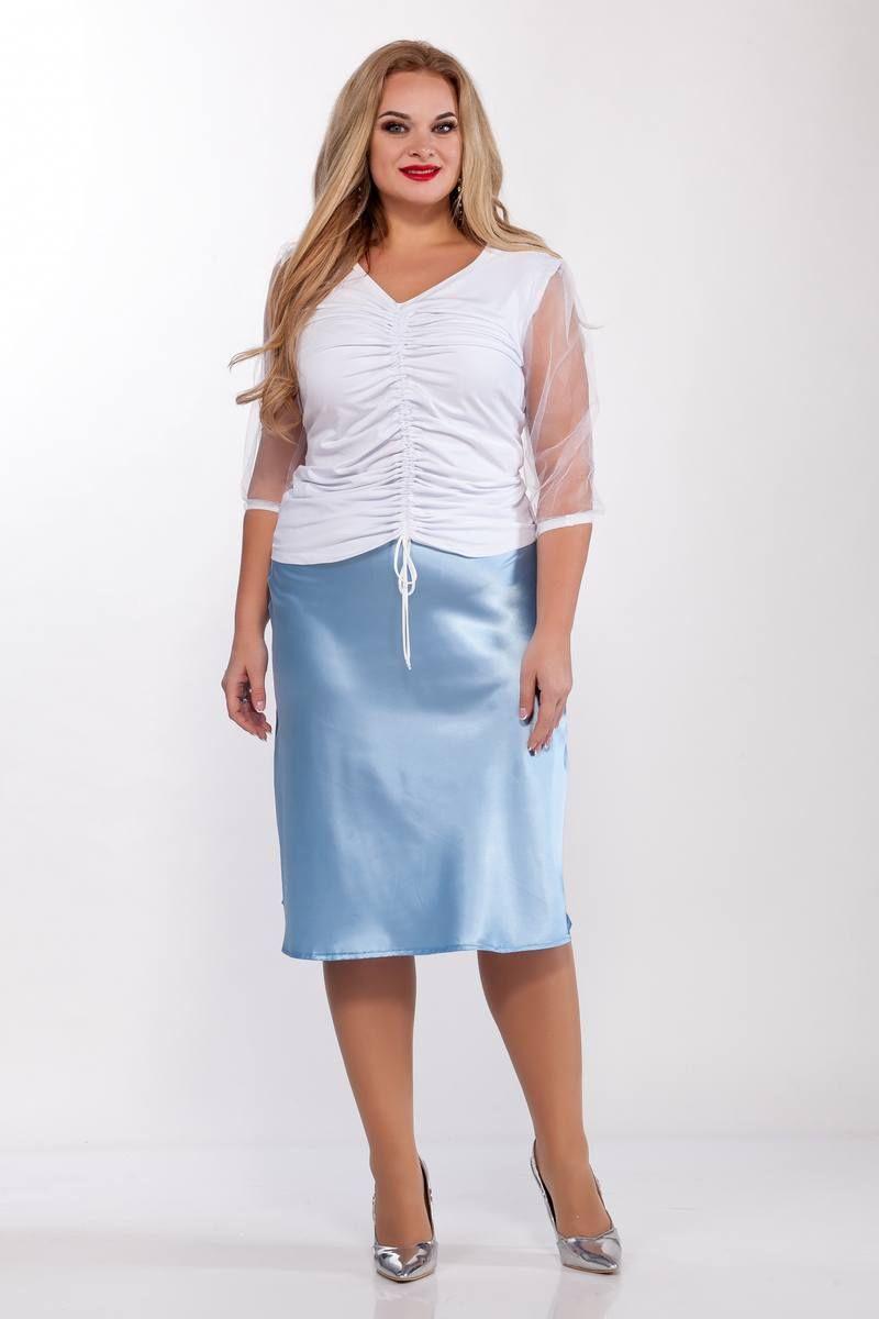 блуза,  юбка Belinga 3017 голубой
