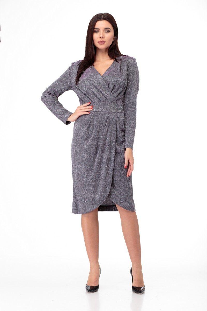 платье Anelli 805 фиолетовый