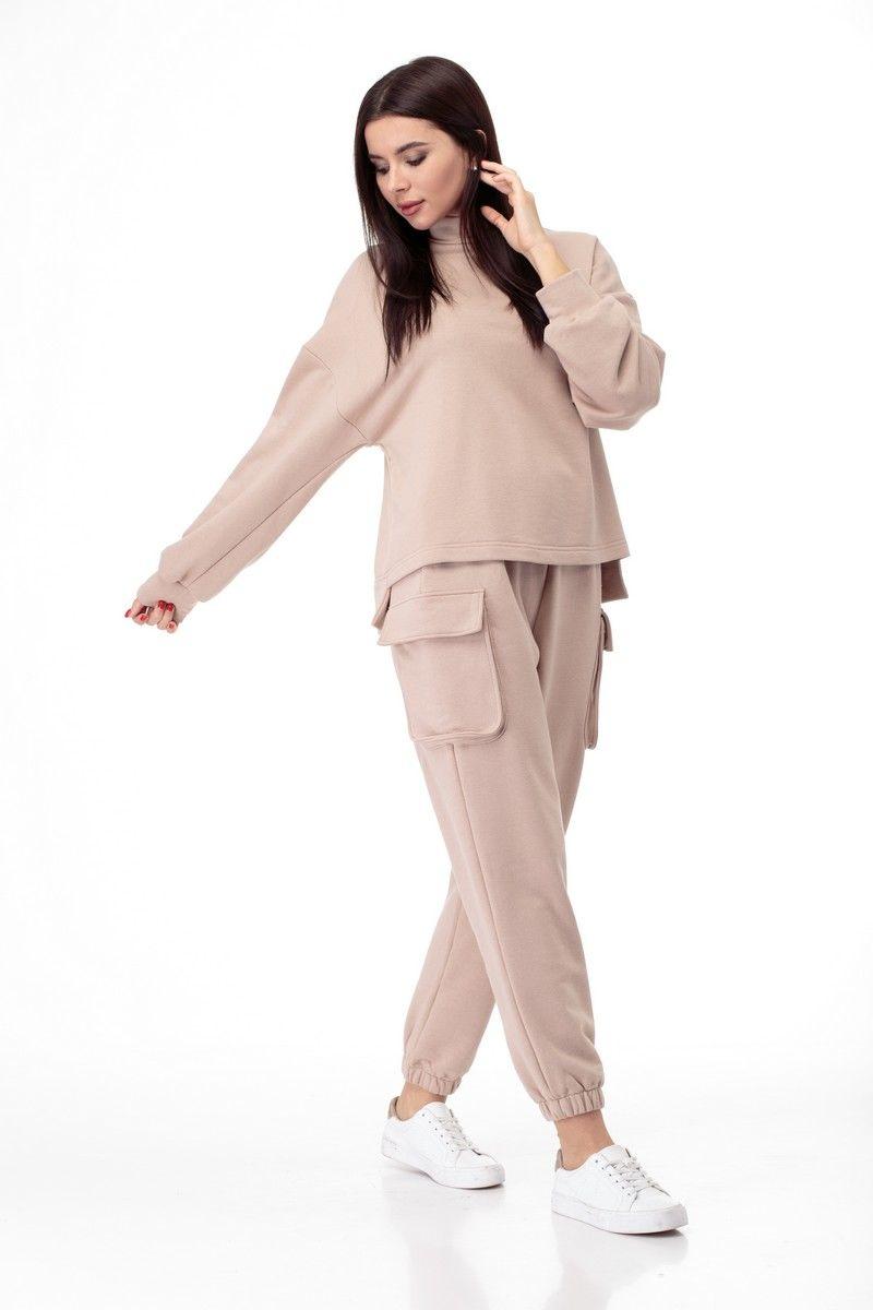 брюки,  свитшот Anelli 907 бежевый
