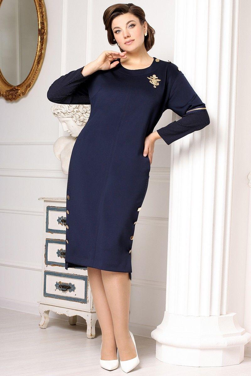 платье Мода Юрс 2639 синий