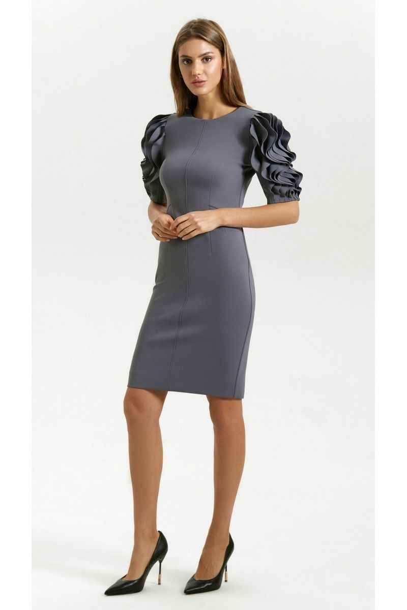платье Vladini DR0366 серый