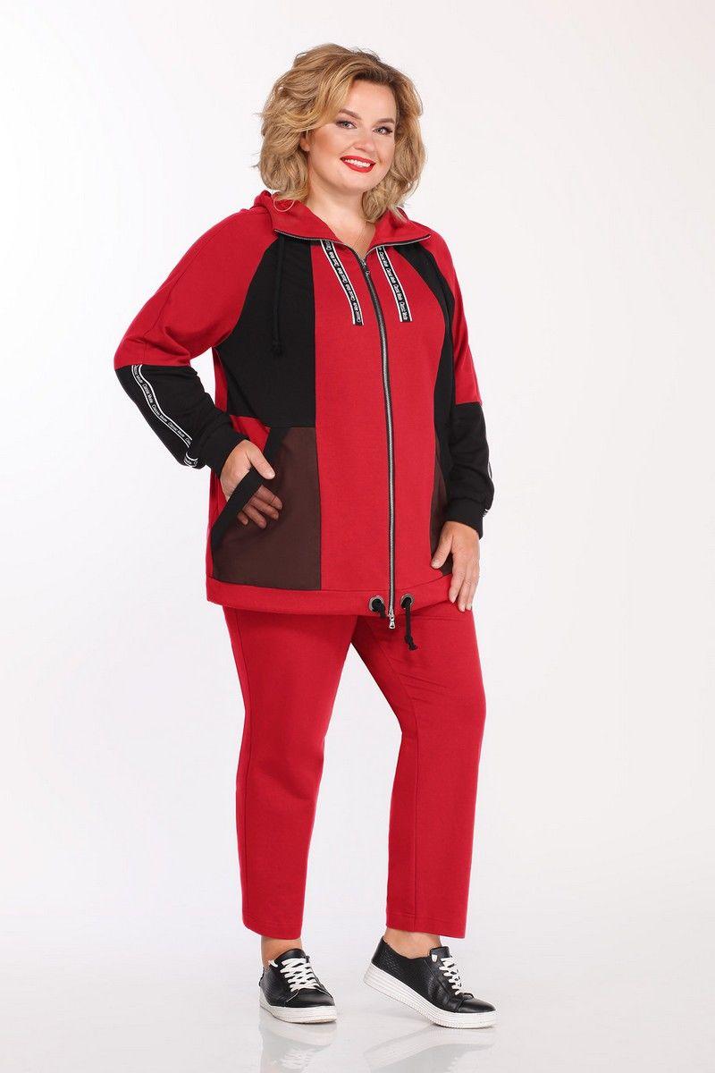 брюки,  куртка Pretty 1141 красный