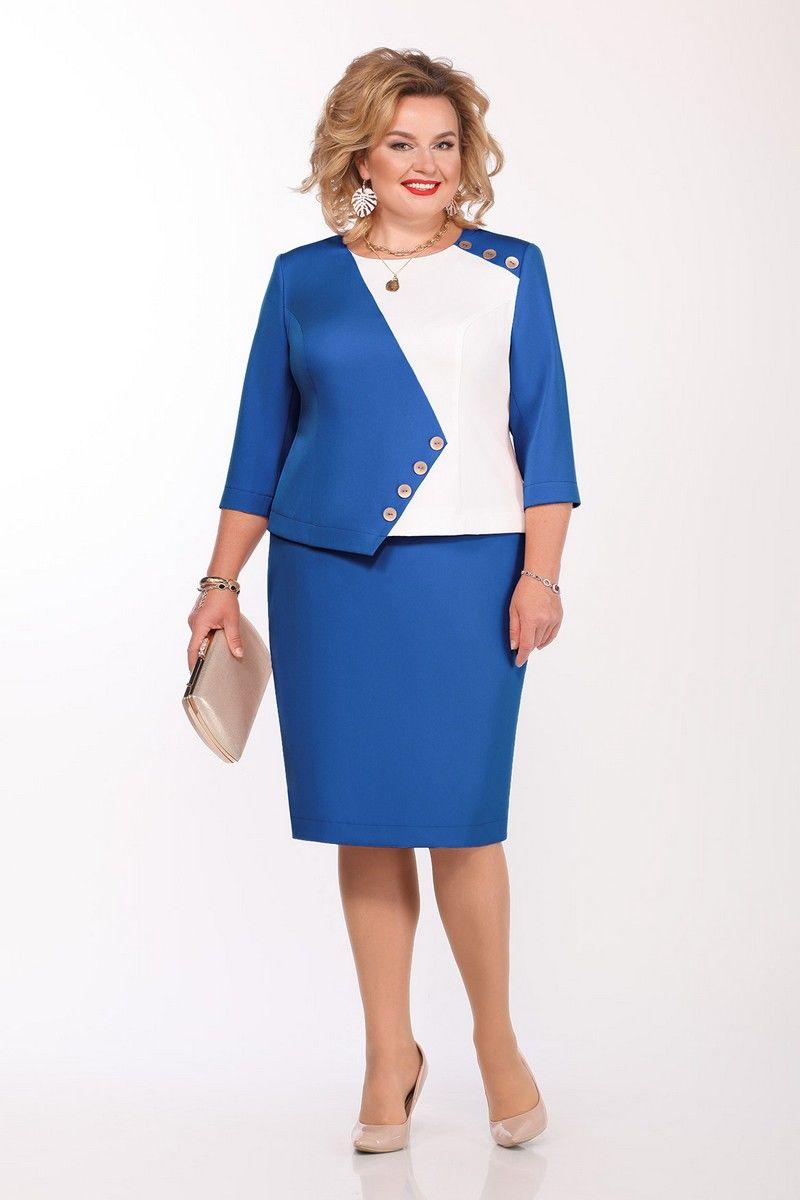 блуза,  юбка Pretty 1142 василек