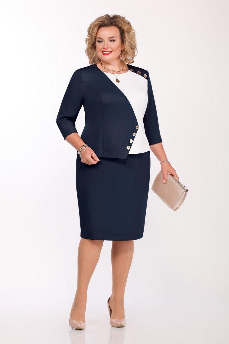 блуза,  юбка Pretty 1142 темно-синий