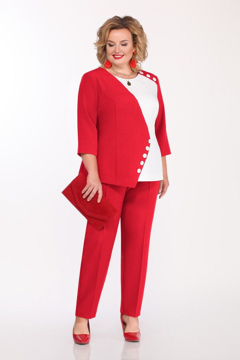 блуза,  брюки Pretty 1148 красный
