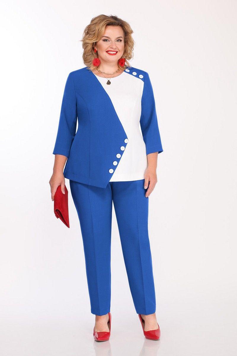 блуза,  брюки Pretty 1148 василек