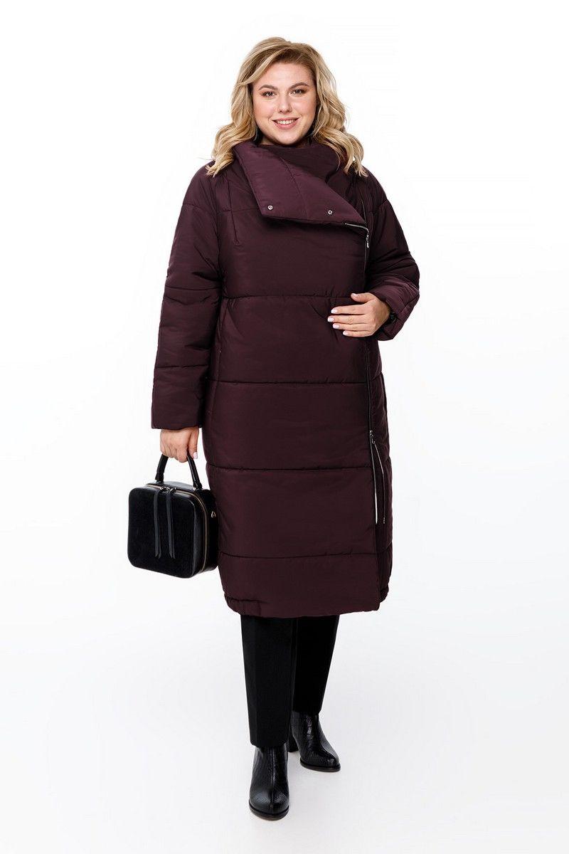 пальто Pretty 1173 баклажан