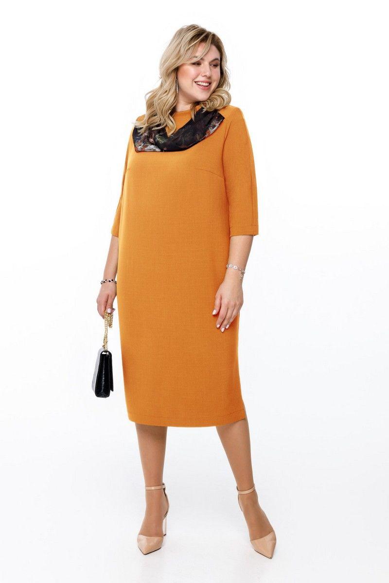 платье Pretty 1176 горчица
